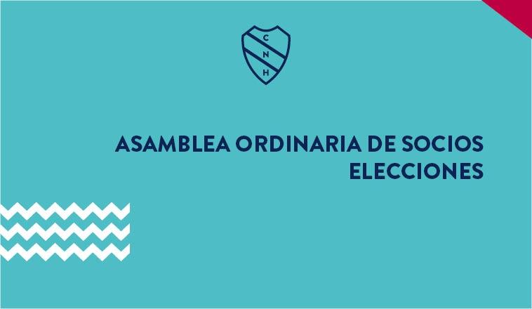 ELECCIONES Y ASAMBLEA ORDINARIA DE SOCIOS