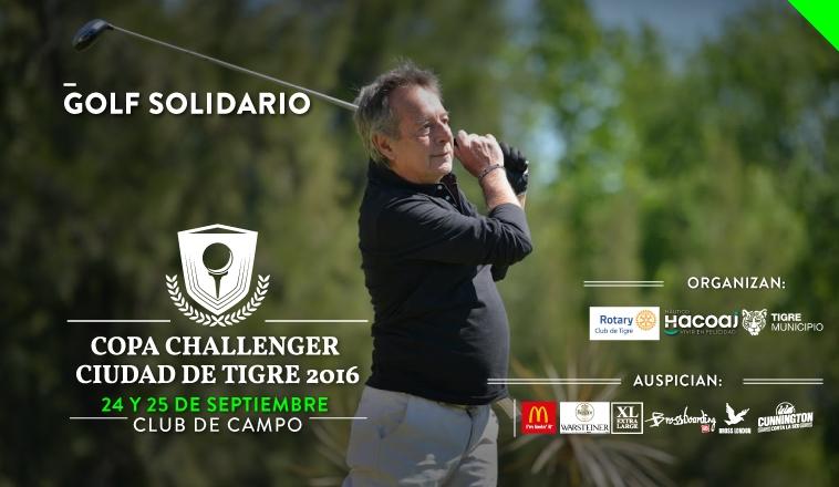 ¡TORNEO DE GOLF SOLIDARIO! COPA CHALLENGER CIUDAD DE TIGRE 2016